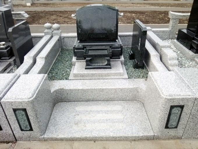 洋型墓石 [M1H]・4㎡2段式外柵[G623]