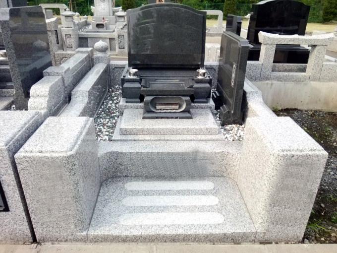 洋型墓石[河北山崎]・3㎡2段式外柵[G623]